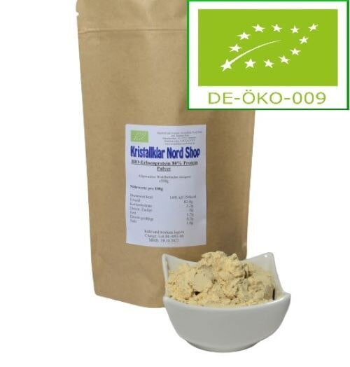 Bio Erbsenprotein 80% Protein Pulver 500g